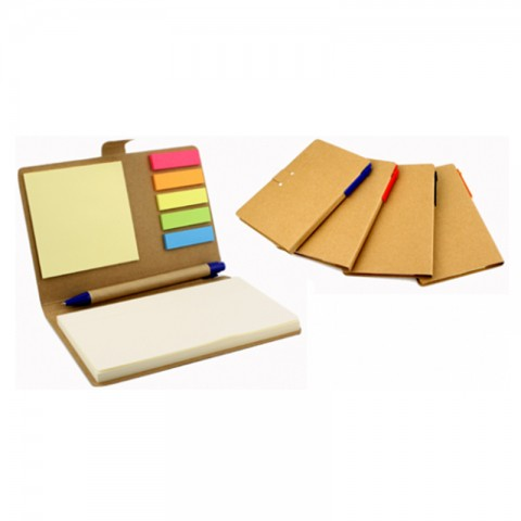 Bloco eco com post-its